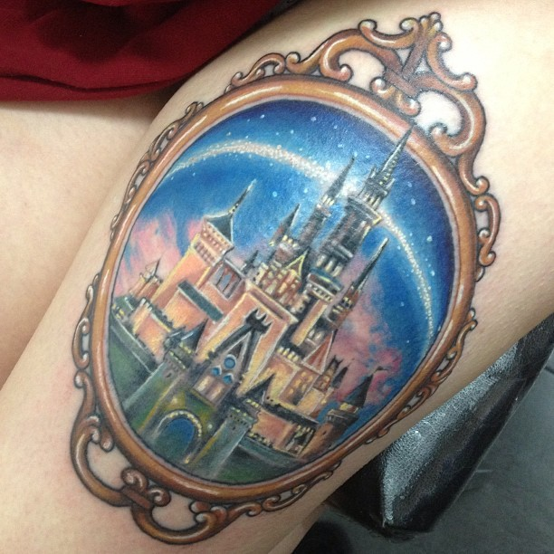 Completely awesome disney tattoos part of your world guff for Disney world tattoos