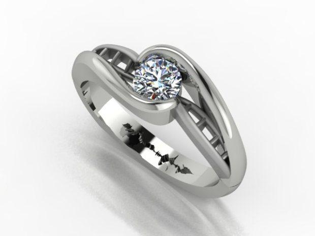 Geeky wedding rings