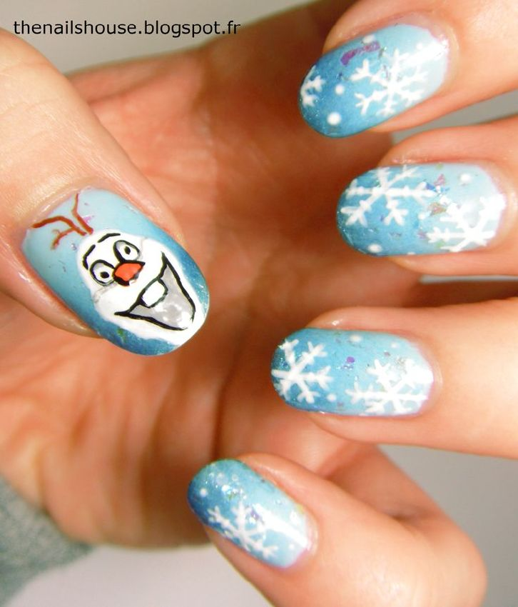 Disney Nail Art: Absolutely Awesome Disney Nail Art - Frozen