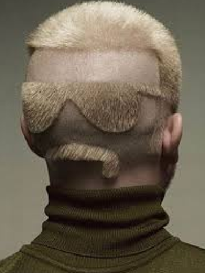 Designed shaved into face