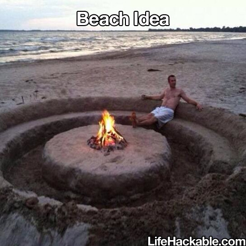 amazing beach life hacks for summer bonfire sand pit