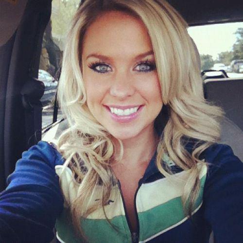 Hot blonde selfies